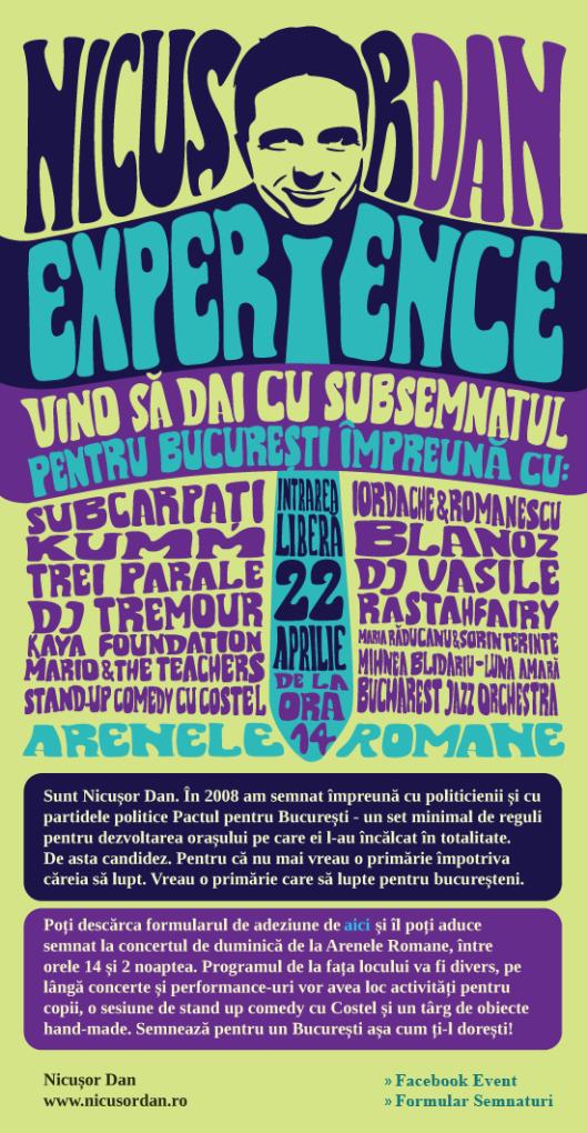 Mare Eveniment Mare! Nicusor Dan Experience! 22 Aprilie, Arenele Romane
